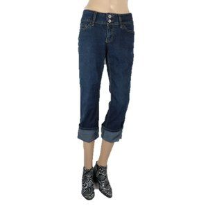 Angels Dark Wash Cropped Jeans